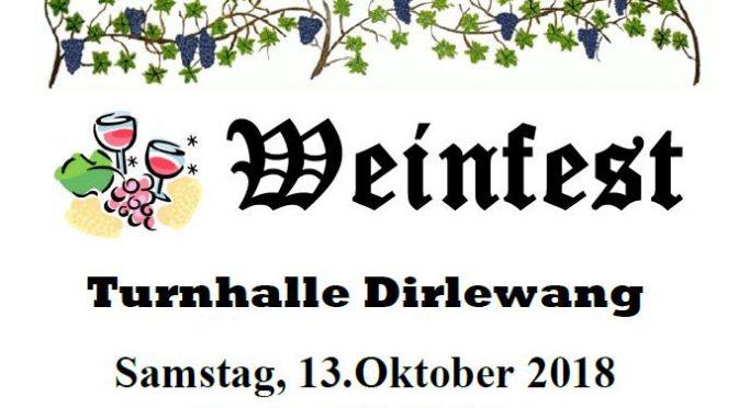Weinfest 2019 – Ankündigung